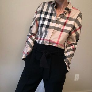 Burberry Check Shirt Sz Sm